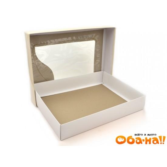 Коробка картонная подарочная 37х28х6.5 3032